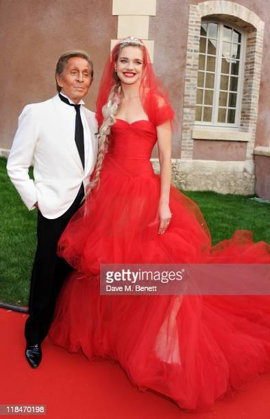 Valentino Garavani and Natalia Vodianova arrive at The White Fairy Tale Love Ball hosted by Valentino Garavani and Natalia Vodianova in aid of the...