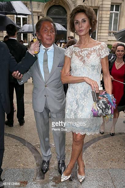 Valentino Garavani and Nati Abascal attend the Valentino show as part of Paris Fashion Week Haute Couture Fall/Winter 20142015 at Hotel Salomon de...