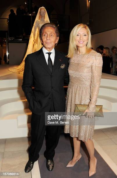Valentino Garavani and Princess Marie Chantal of Greece attend a private view of 'Valentino: Master Of Couture', exhibiting from November 29th, 2012...
