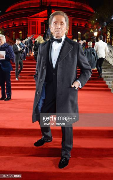 Valentino Garavani arrives at The Fashion Awards 2018 in partnership with Swarovski at the Royal Albert Hall on December 10 2018 in London England