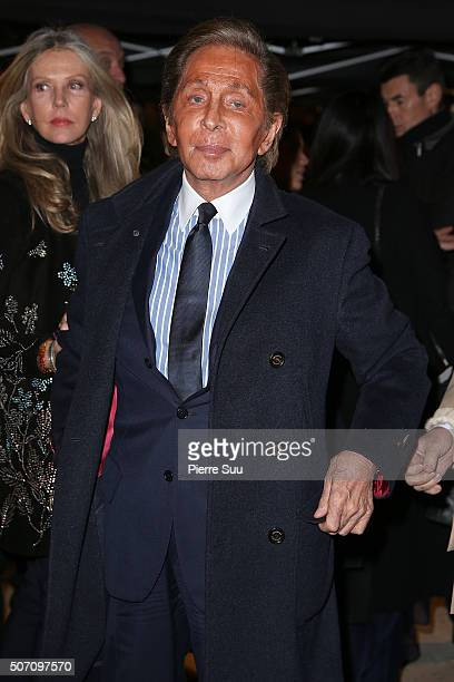 Valentino Garavani arrives at the Valentino Haute Couture Spring Summer 2016 show as part of Paris Fashion Week on January 27 2016 in Paris France