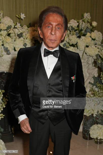 Valentino Garavani attends the British Vogue and Tiffany & Co. Celebrate Fashion and Film Party at Annabel's on February 10, 2019 in London, England.