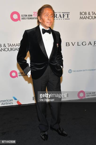 Valentino Garavani attends the Elton John AIDS Foundation 25th Year And Honors Founder Sir Elton John During New York Fall Gala at Cathedral of St...