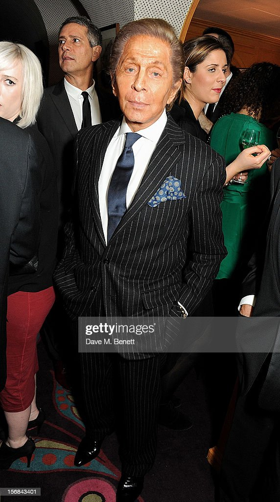 Valentino Garavani attends the launch of Bryan Ferry's new album 'The Jazz Age' at Annabels on November 22, 2012 in London, England.