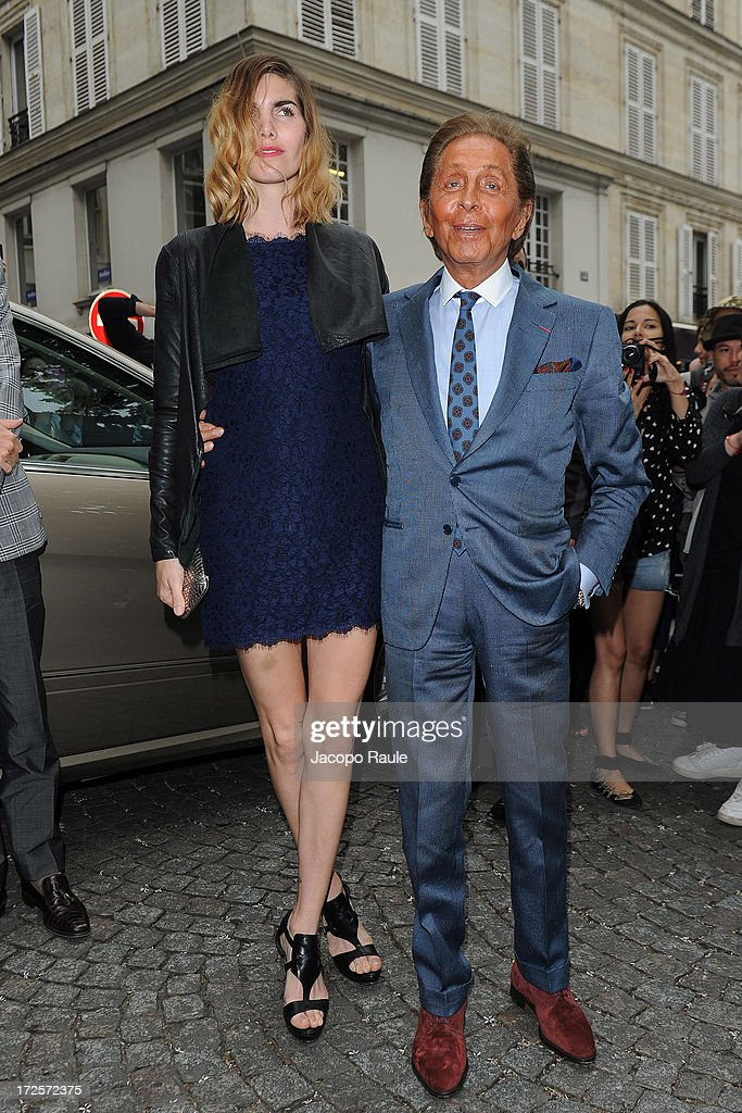 Valentino Garavani attends the Valentino show as part of Paris Fashion Week Haute-Couture Fall/Winter 2013-2014 at Hotel Salomon de Rothschild on July 3, 2013 in Paris, France.