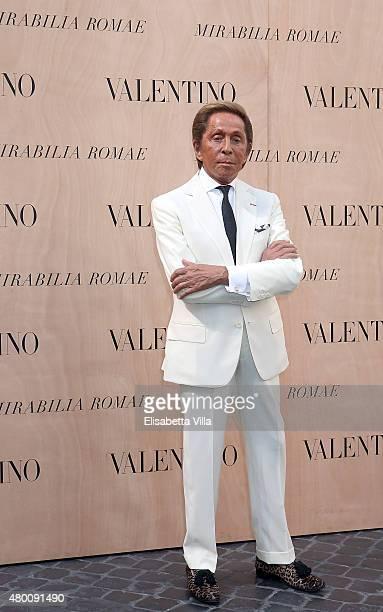 Valentino Garavani attends the Valentinos 'Mirabilia Romae' haute couture collection fall/winter 2015 2016 at Piazza Mignanelli on July 9 2015 in...