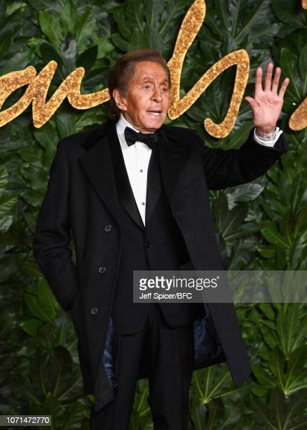 Valentino Garavani during The Fashion Awards 2018 In Partnership With Swarovski at Royal Albert Hall on December 10 2018 in London England