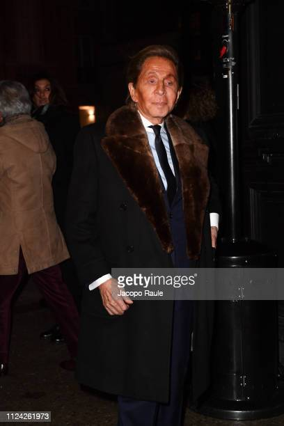 Valentino Garavani is seen arriving at Valentino fashion show during Paris Fashion Week Haute Couture Spring Summer 2020 on January 23 2019 in Paris...