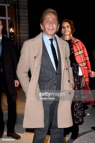 Valentino Garavani is seen arriving at Valentino Haute Couture Spring Summer 2018 show as part of Paris Fashion Week on January 24 2018 in Paris...