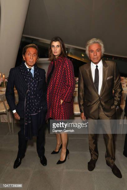 Valentino Garavani Rosario Nada and Giancarlo Giammetti toast goops's 10th anniversary and the launch of the goop London popup at the Serpentine...