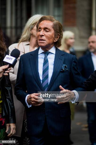 Valentino Garavani seen outside Valentino during Paris Fashion Week Spring/Summer 2018 on October 1 2017 in Paris France