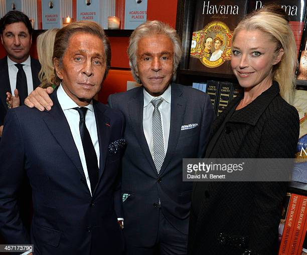 Valentino Giancarlo Giammetti and Tamara Beckwith at Carlos Souza's book signing of #Carlos's Places at The Assouline Boutique at Claridge's Hotel on...