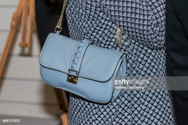 Valentino handbag worn by Princess Victoria of Sweden while attending the 2017 Stockholm Security Conference at Artipelag on September 14 2017 in...