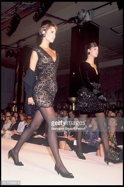 Valentino Haute Couture fashion show fall winter 1991 - 1992 collections in Paris.