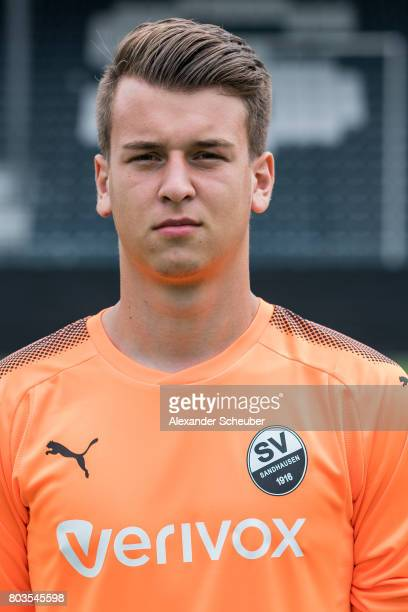 Valentino Jovic poses during the team presentation at on June 29 2017 in Sandhausen Germany