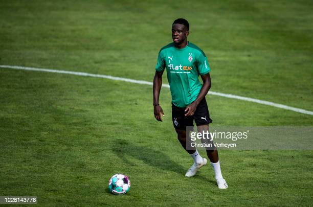 Valentino Lazaro in action during a Training session at the Training Camp of Borussia Moenchengladbach at Klosterpforte on August 21 2020 in...