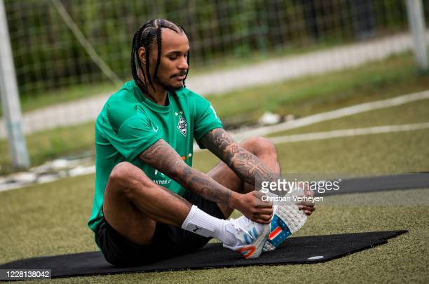 Valentino Lazaro is seen during a Training session at the Training Camp of Borussia Moenchengladbach at Klosterpforte on August 21 2020 in Marienfeld...