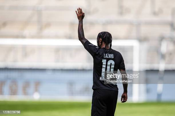 Valentino Lazaro is seen during the PreSeason friendly match between Borussia Moenchengladbach and SpVgg Fuerth at BorussiaPark on August 27 2020 in...