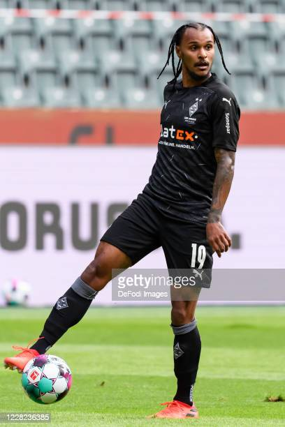 Valentino Lazaro of Borussia Moenchengladbach controls the ball during the preseason friendly match between Borussia Monechengladbach and SpVGG...