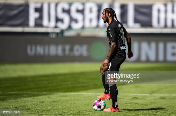 Valentino Lazaro of Borussia Moenchengladbach in action ahead the PreSeason friendly match between Borussia Moenchengladbach and SpVgg Fuerth at...