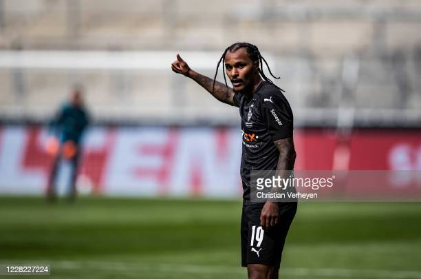 Valentino Lazaro of Borussia Moenchengladbach is seen ahead the PreSeason friendly match between Borussia Moenchengladbach and SpVgg Fuerth at...