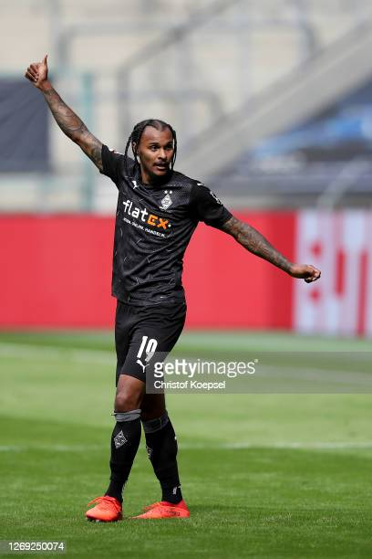Valentino Lazaro of Moenchengladbach reacts during the preseason friendly match between Borussia Monechengladbach and SpVGG Fuerth at BorussiaPark on...