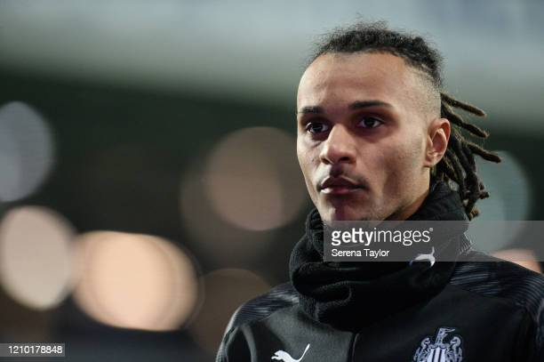 Valentino Lazaro of Newcastle United FC during the FA Cup Fifth Round match between West Bromwich Albion and Newcastle United at The Hawthorns on...