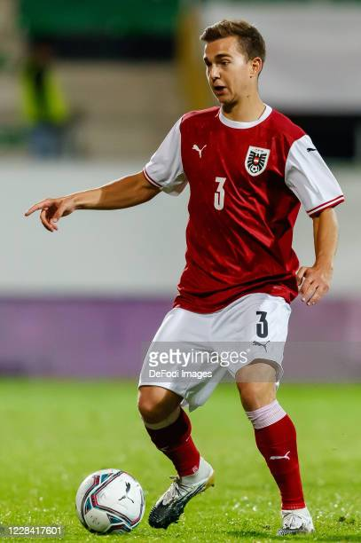 Valentino Mueller of Austria controls the ball during the UEFA Euro Under 21 Qualifier match between Austria U21 and England U21 at Keine Sorgen...