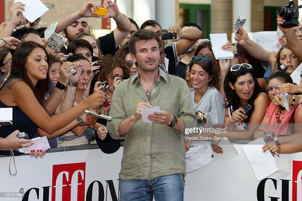 Valentino Picone signs autographs for the fans during Giffoni Experience 2010 on July 29, 2010 in Giffoni Valle Piana, Italy.