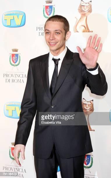 Valentino Rossi arrives at the Italian TV Awards ''Telegatti'' at the Auditorium Conciliazione on January 20 2008 in Rome Italy