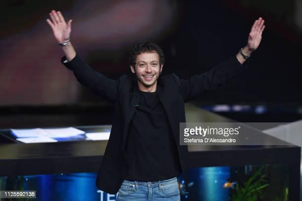 Valentino Rossi attends 'Che Tempo Che Fa' Tv Show on January 27, 2019 in Milan, Italy.