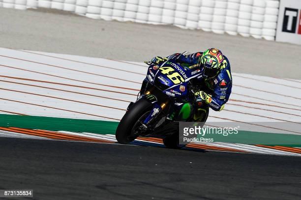 Valentino Rossi during qualifying session at Valencia Motogp