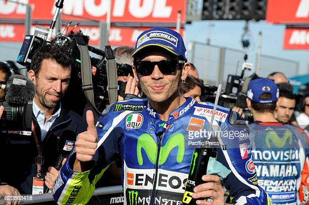 Valentino Rossi during the qualifying sessions at Ricardo Tormo Circuit
