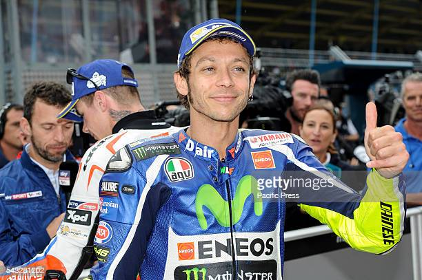 Valentino Rossi during the qualifying sessions in Assen
