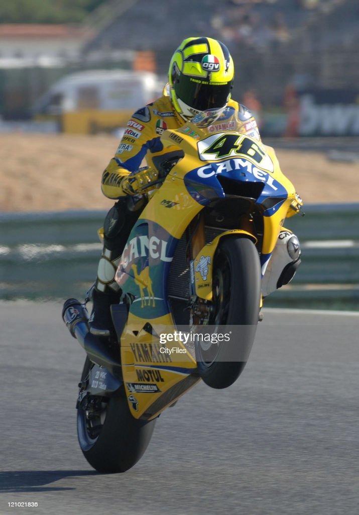Valentino Rossi (ITA) during training for the 2006 Estoril Moto GP in Estoril, Portugal on October 14, 2006.