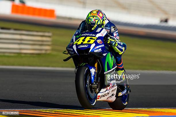 Valentino Rossi from Italy of Movistar Yamaha Moto GP during the colective tests of Moto GP at Circuito de Valencia Ricardo Tormo on November 15th...
