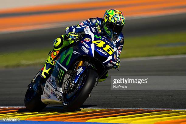 Valentino Rossi from Italy of Movistar Yamaha Moto GP during the colective tests of Moto GP at Circuito de Valencia Ricardo Tormo on November 16th...