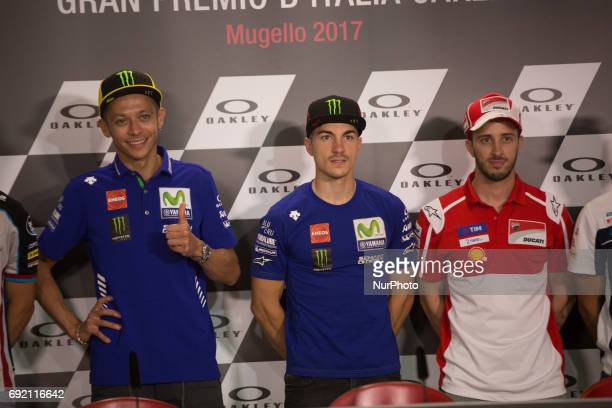 Valentino ROSSI ITA Movistar Yamaha MotoGP during the Saturday press conference after the pole Day2 qualifications at the Mugello International...