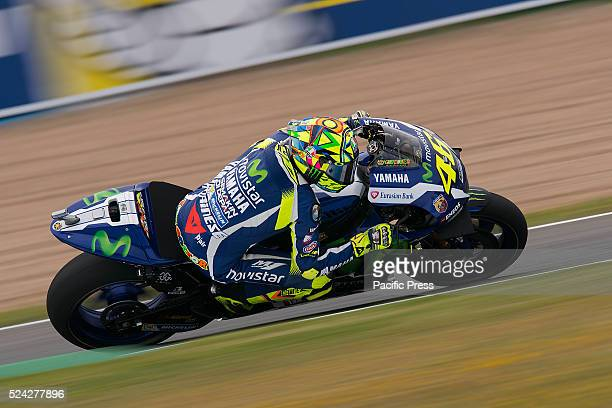 Valentino ROSSI Movistar Yamaha MotoGP during the Practice session at the MotoGp Grand Prix Red Bull of Spain