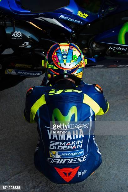Valentino Rossi Movistar Yamaha MotoGP during the tests of the new season MotoGP 2018 Circuit of Ricardo TormoValencia Spain Tuesday 14th of november...