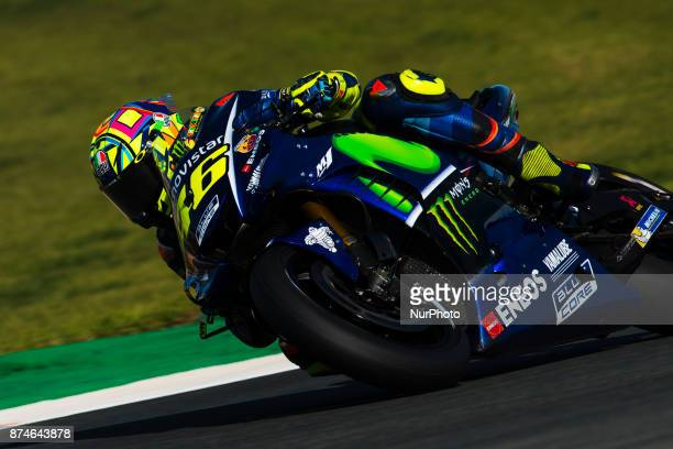Valentino Rossi Movistar Yamaha MotoGP during the tests of the new season MotoGP 2018 Circuit of Ricardo TormoValencia Spain Wednesday 15th of...