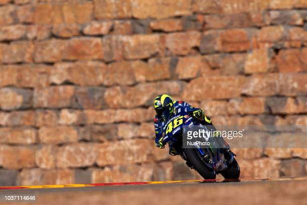 Gregorio Lavilla of Spain speaks in box during the MotoGP of Aragon Free Practice at Motorland Aragon Circuit on September 21 2018 in Alcaniz Spain
