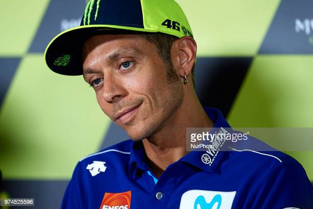 Valentino Rossi of Italy and Movistar Yamaha MotoGP during the press conference before of the Gran Premi Monster Energy de Catalunya Circuit of...