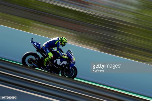 Valentino Rossi of Italy and Movistar Yamaha MotoGP during the race day of the Gran Premi Monster Energy de Catalunya Circuit of Catalunya Montmelo...