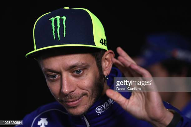 Valentino Rossi of Italy and Movistar Yamaha MotoGP is seen during previews ahead of the 2018 MotoGP of Australia at Phillip Island Grand Prix...