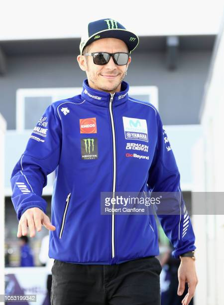 Valentino Rossi of Italy and Movistar Yamaha MotoGP is seen in the pit paddock during previews ahead of the 2018 MotoGP of Australia at Phillip...