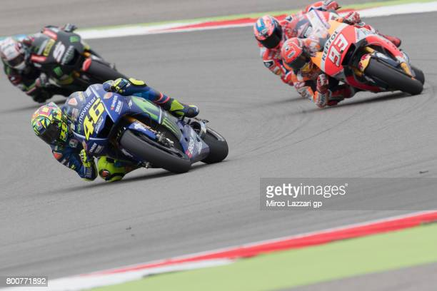 Valentino Rossi of Italy and Movistar Yamaha MotoGP leads the field during the MotoGP Race during the MotoGP Netherlands RaceMotoGP Netherlands Race...