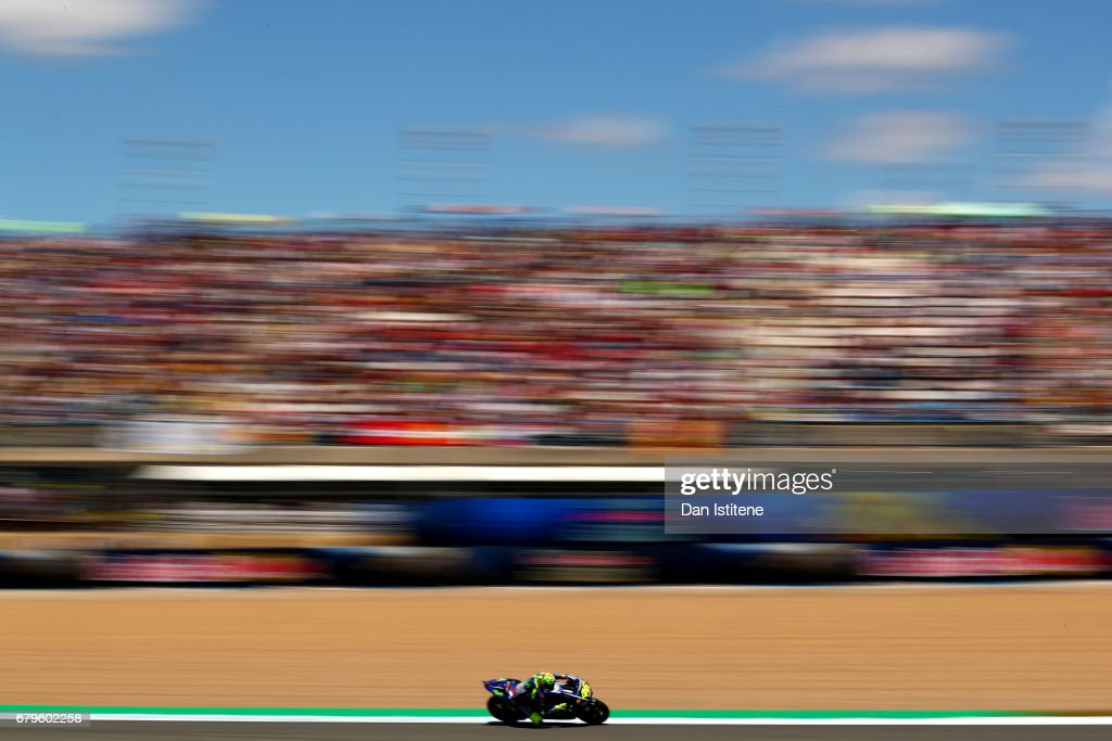 Valentino Rossi of Italy and Movistar Yamaha MotoGP rides during qualifying for the MotoGP of Spain at Circuito de Jerez on May 6, 2017 in Jerez de la Frontera, Spain.