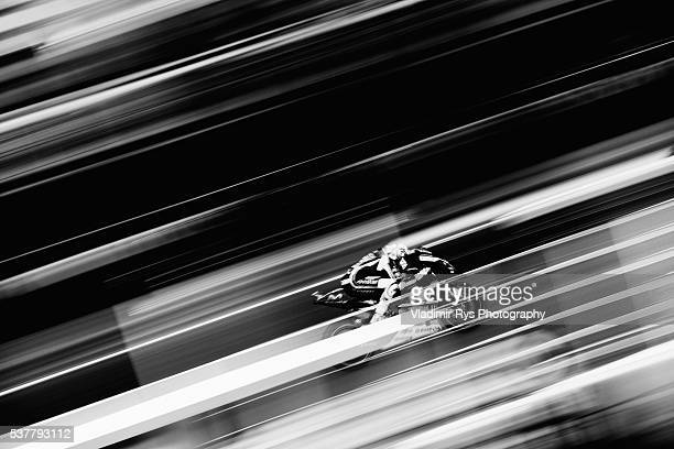 Valentino Rossi of Italy and Movistar Yamaha MotoGP rides his bike during practice for the MotoGP of Catalunya at Circuit de Barcelona on June 03,...