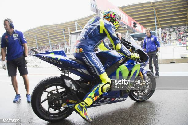 Valentino Rossi of Italy and Movistar Yamaha MotoGP starts from box during the MotoGP Netherlands Qualifying on June 24 2017 in Assen Netherlands